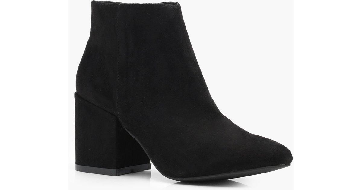 Boohoo Louise Block Heel Ankle Boots in
