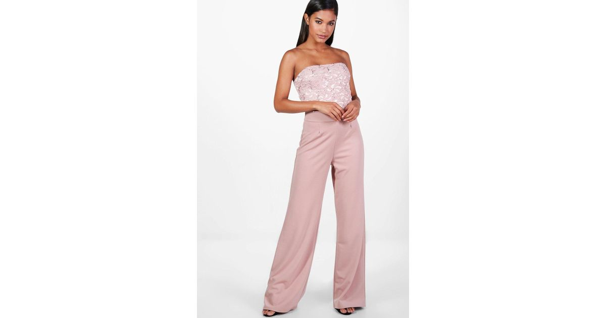 amazing quality new products for large assortment Boohoo Pink Gemma Boutique Wide Leg Sequin Jumpsuits