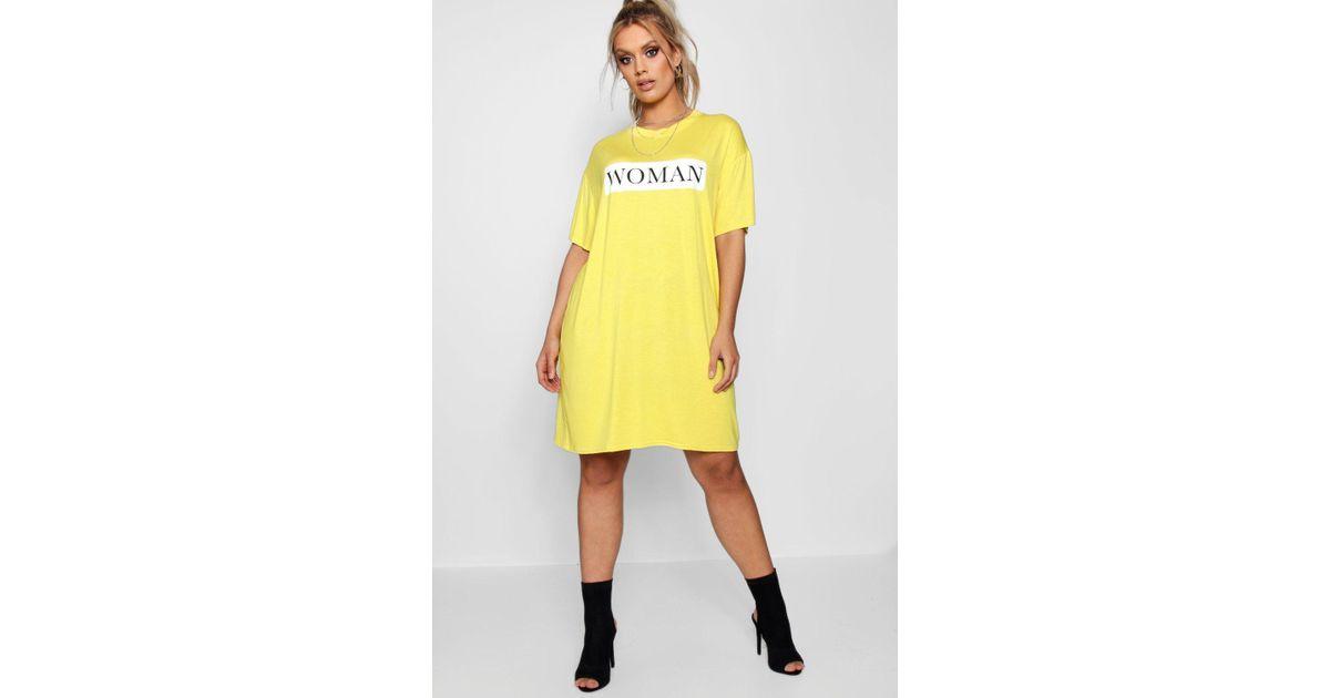 yellow oversized t shirt dress