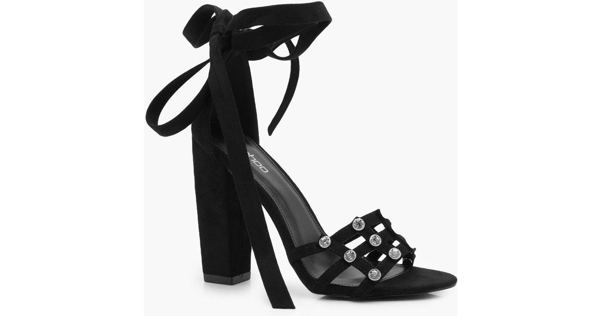 Lilly Diamante Cage Wrap Strap Heels aUHTrQi