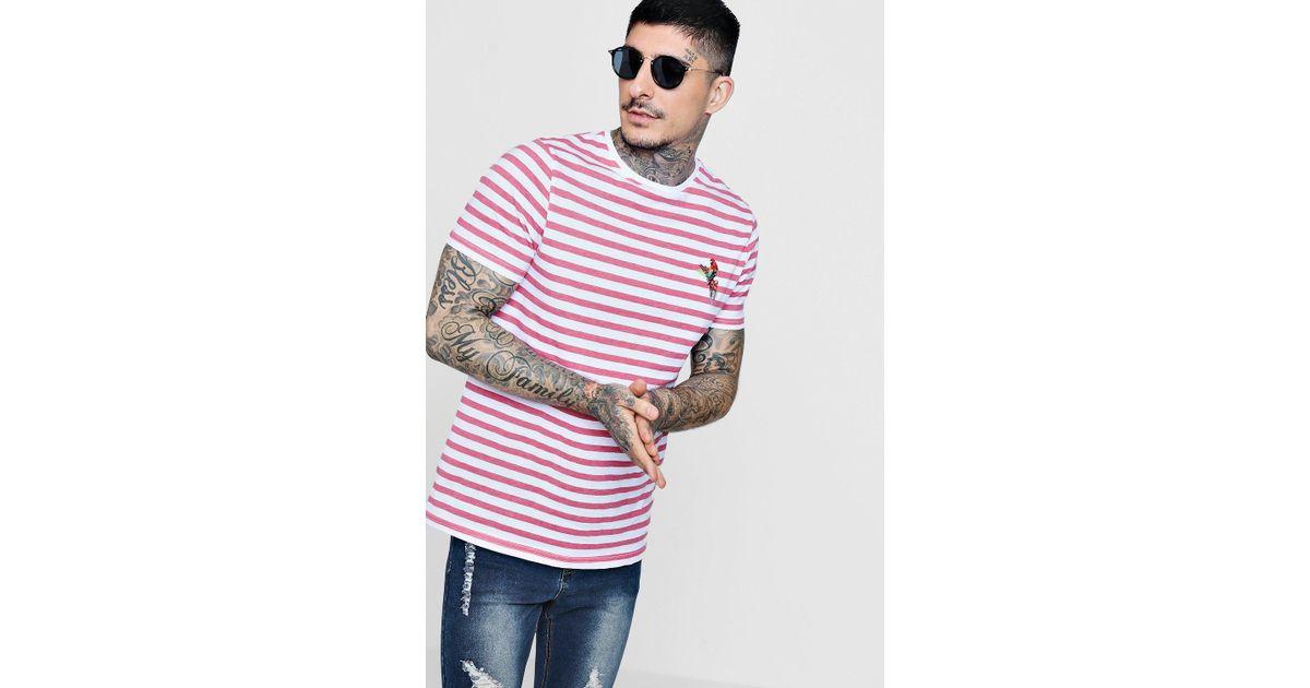 shirt Ringer Rosa Boohoo Stripe T QsxhrdCt