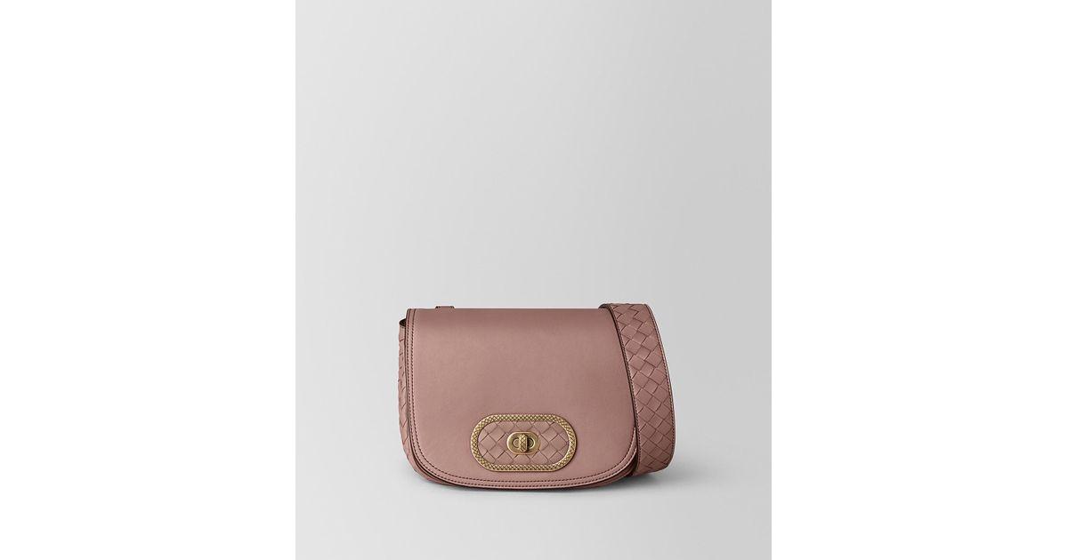 85819e77ca25 Lyst - Bottega Veneta Bv Luna Bag In Nappa in Pink