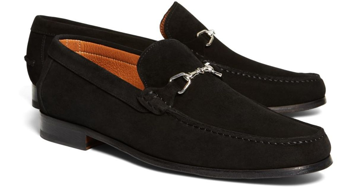 64e74df4a60da Brooks Brothers Suede Buckle Loafers in Black for Men - Save 33% - Lyst