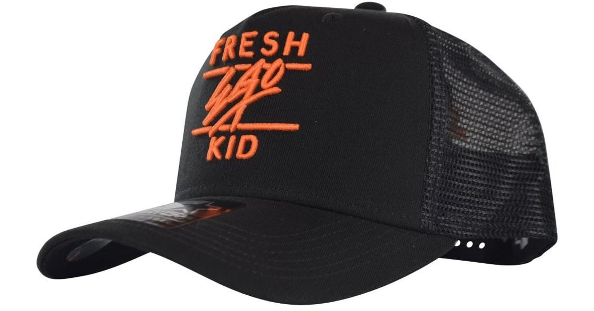 20ba21f3451 Fresh Ego Kid Mesh Trucker Cap S077 in Black for Men - Lyst