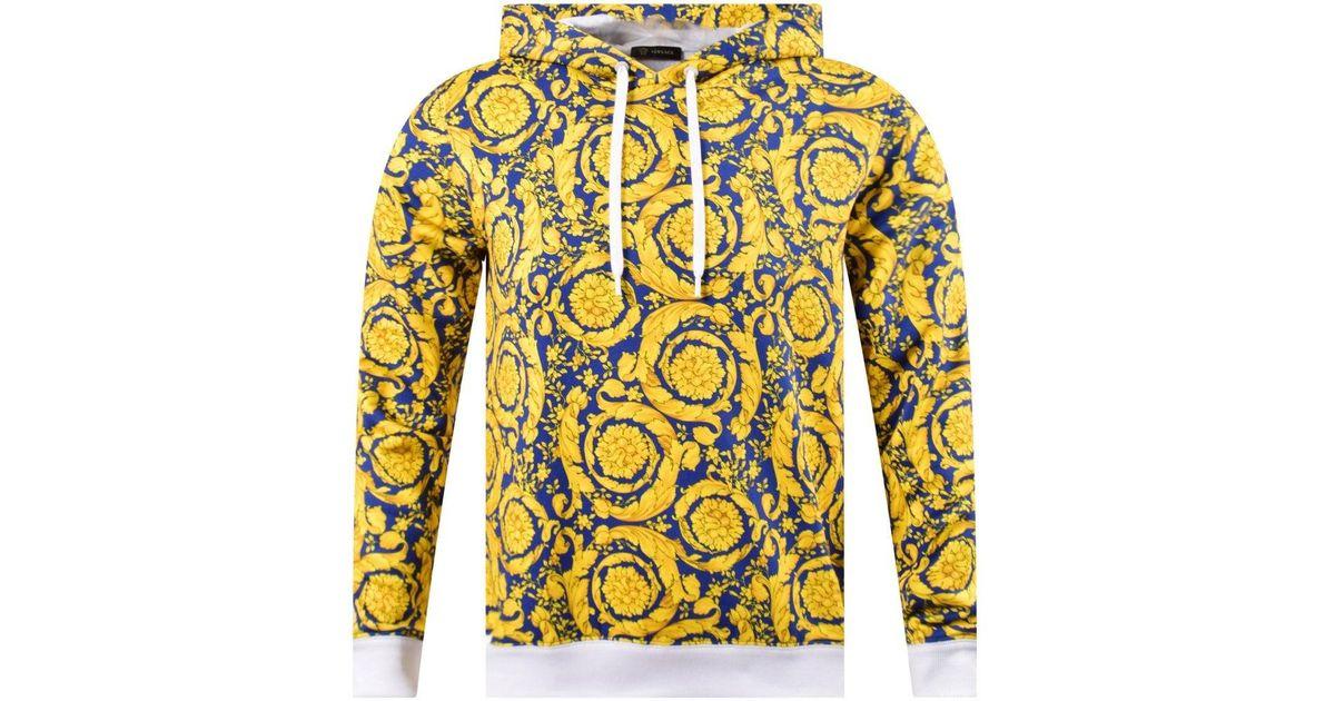 versace hoodie gold