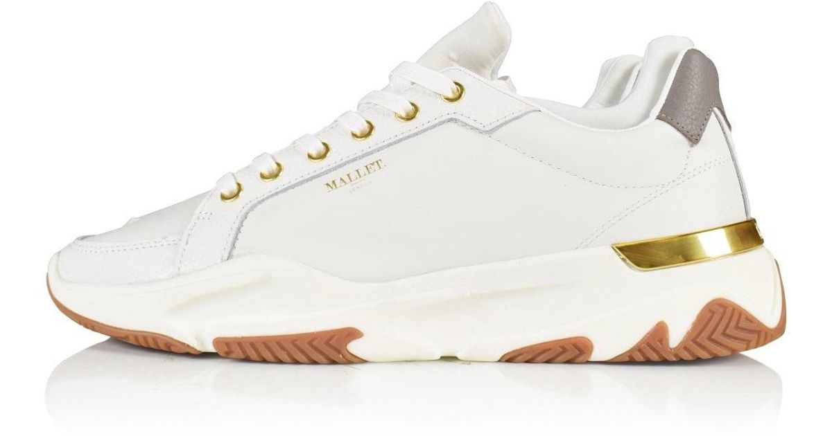 Mallet Leather Kingsland White Trainers