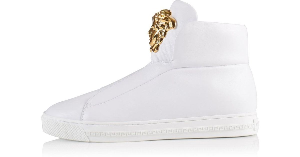 df85a588 Versace White Slip-on High Top Palazzo Trainer for men