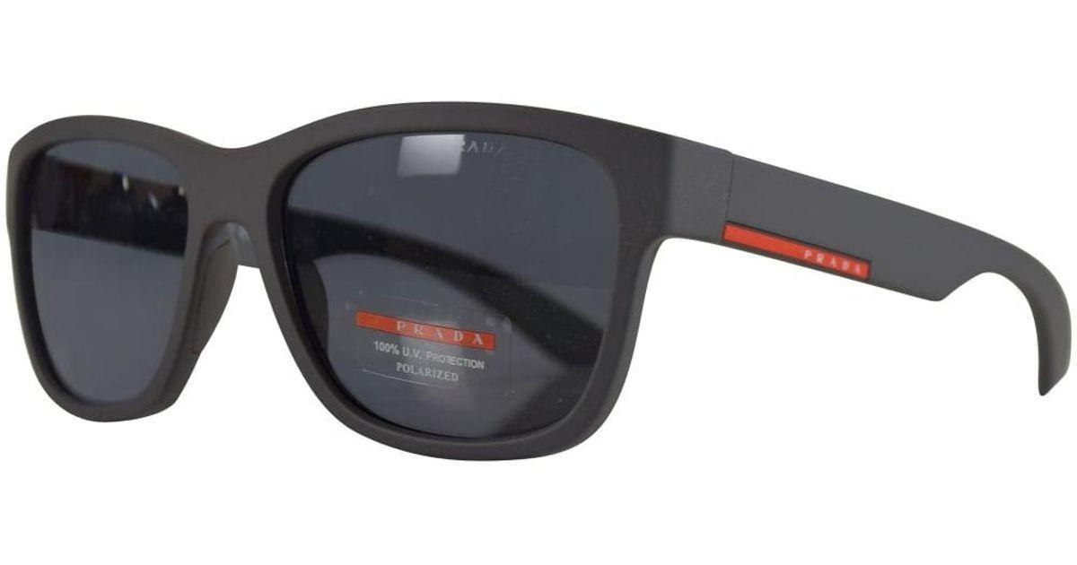 8dec896430314 Lyst - Prada Prada Sport Matte Grey Rubber Wayfarer Sunglasses for Men