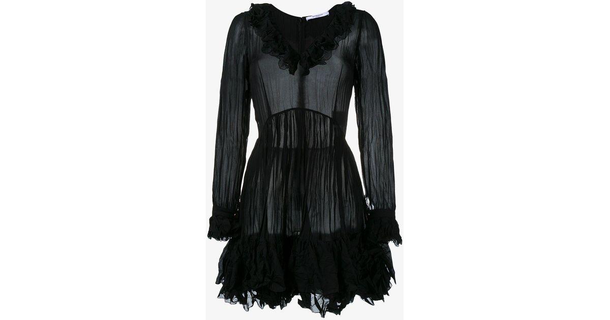 creased ruffled dress - Black Givenchy 2018 Online uy5EpUAs