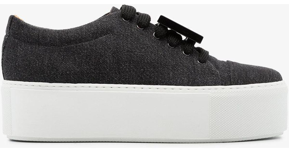 Buy Cheap With Mastercard Bulk Designs Acne Drihanna 55 washed denim sneakers Reliable Sale Online AT87hpUXO