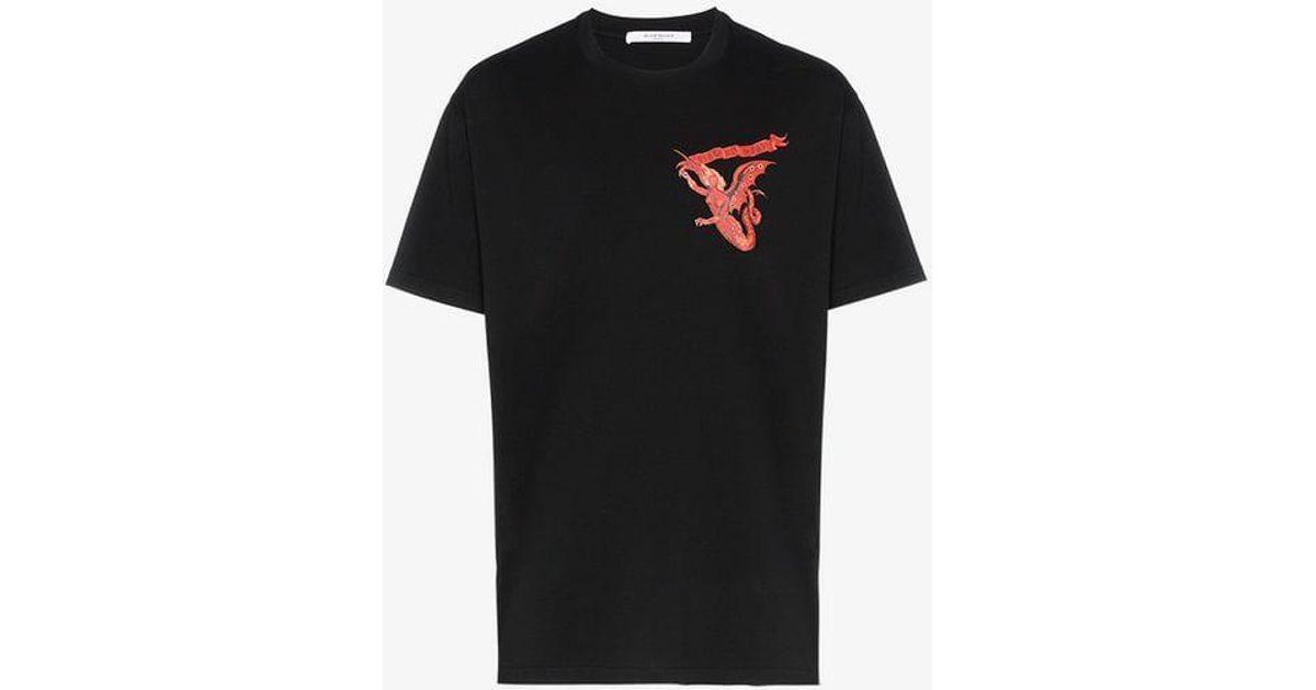 T Cotton In Woman Lyst Givenchy Men For Black Print Shirt Devil wXTiPkuOZ