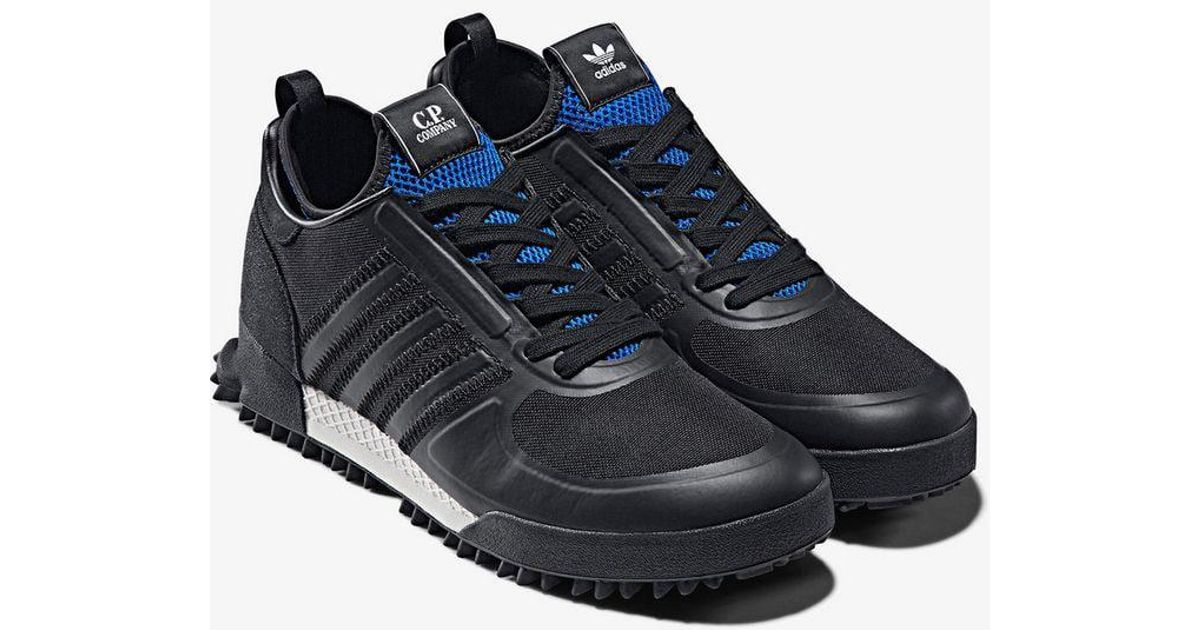 Adidas X Cp Company Black And Blue Marathon Sneakers for men