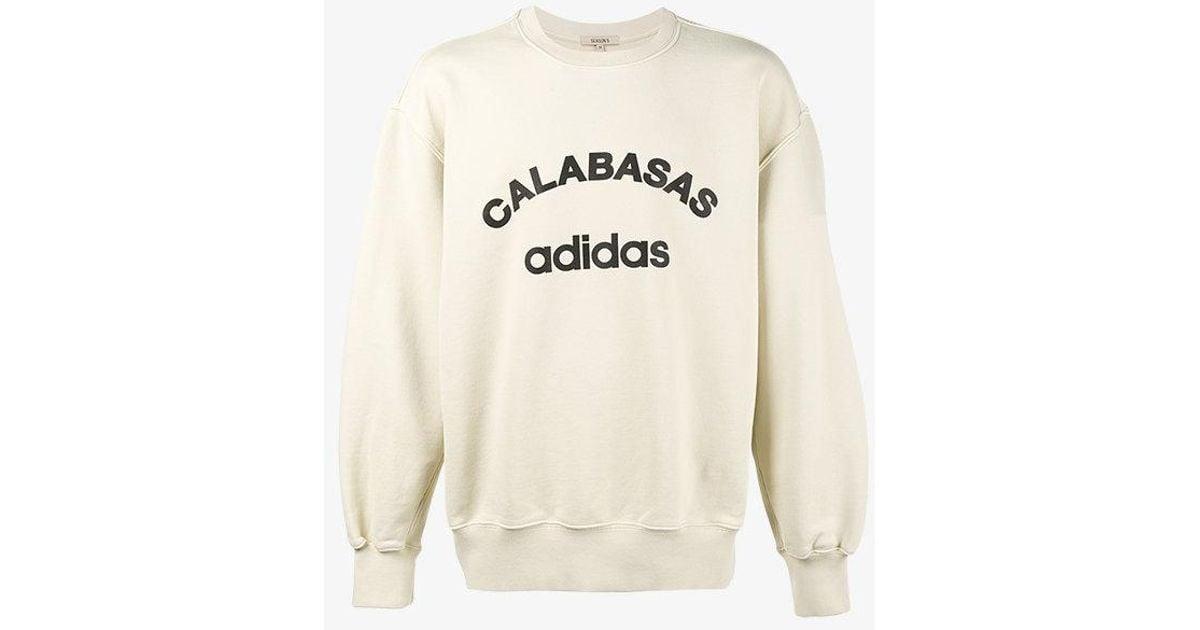 half off hot sales really cheap Yeezy Natural Calabasas Adidas Sweatshirt for men