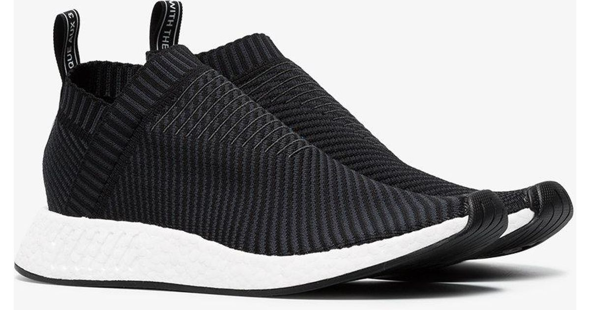Adidas Black Nmd Cs2 Primeknit Sneakers for men
