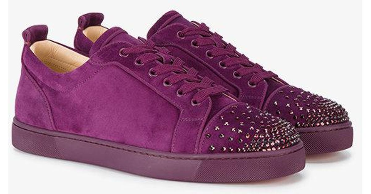 more photos 840bb 8a0a4 Christian Louboutin Purple Louis Junior Degra Trainers for men