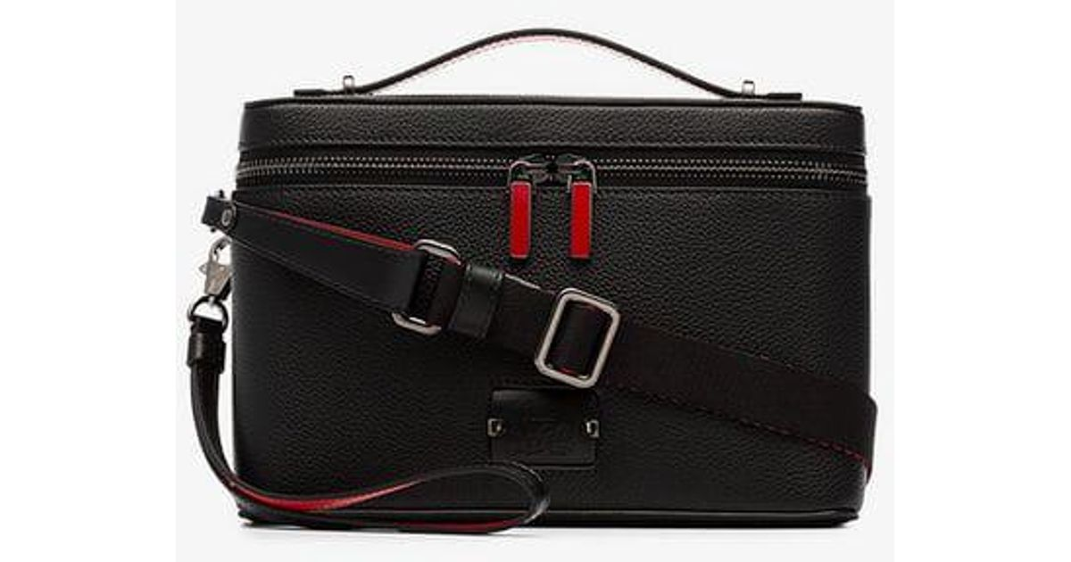 ca9ff369dcc Christian Louboutin Black Kypipouch Leather Bag for men