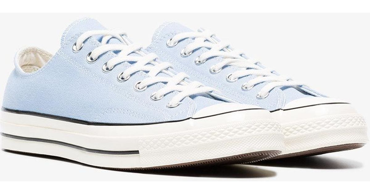 3e19c4a8ffe4 Lyst - Converse Blue Chuck Taylor All Stars 70 Low-top Sneakers in Blue for  Men