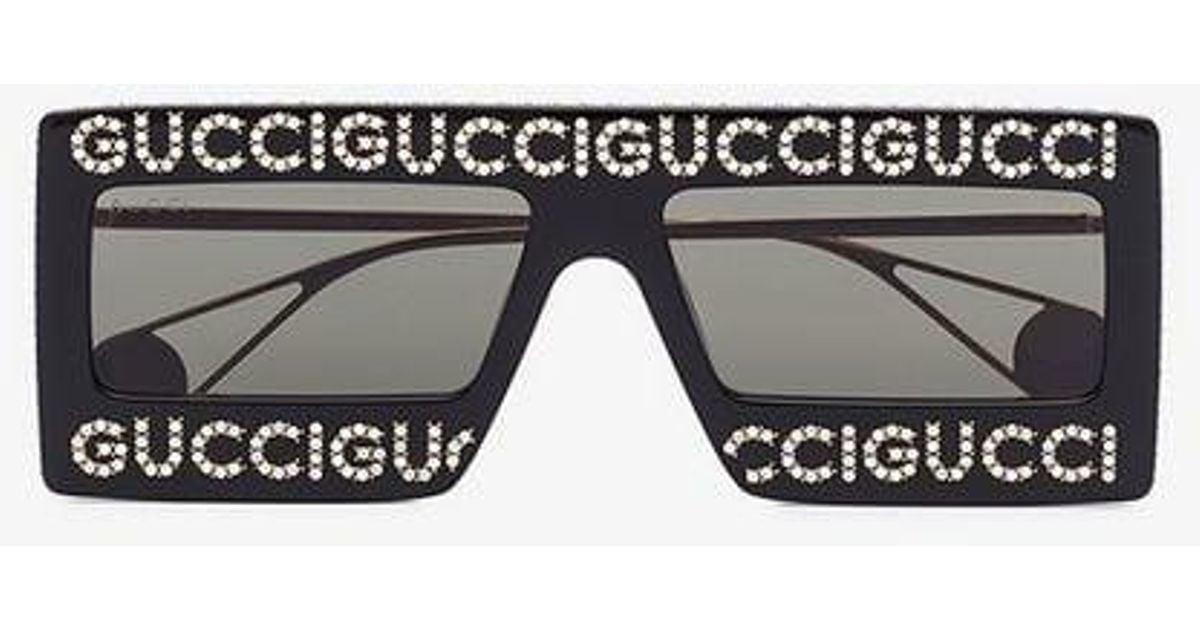 0b9492fae9bea Lyst - Gucci Mask-frame Acetate Sunglasses in Black