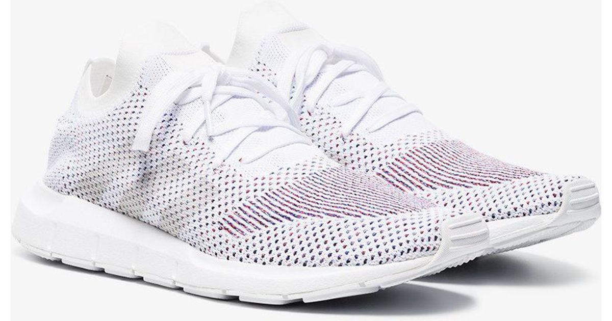 Adidas White Swift Run Primeknit Sneakers