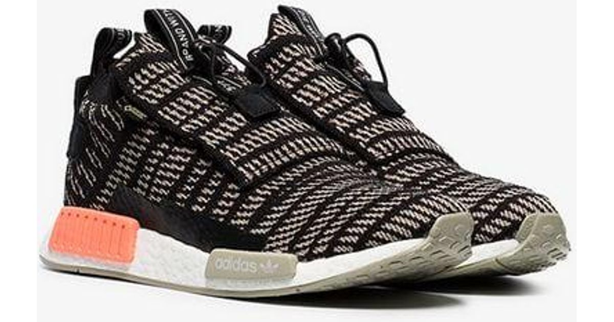 5a6bdb7958c8b Lyst - adidas Black And Beige Nmd Ts1 Primeknit Gtx Sneakers in Black for  Men
