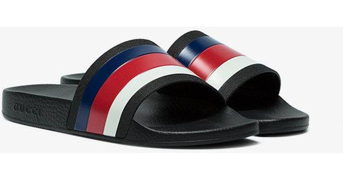 b3fa3ac9894 Lyst - Gucci Web Slide Sandals in Black for Men