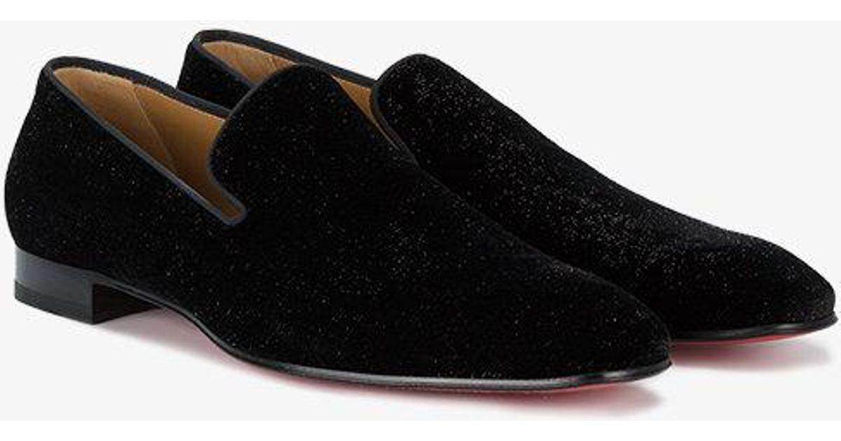 83bbb157f1f Christian Louboutin Black Dandelion Velvet Loafers for men