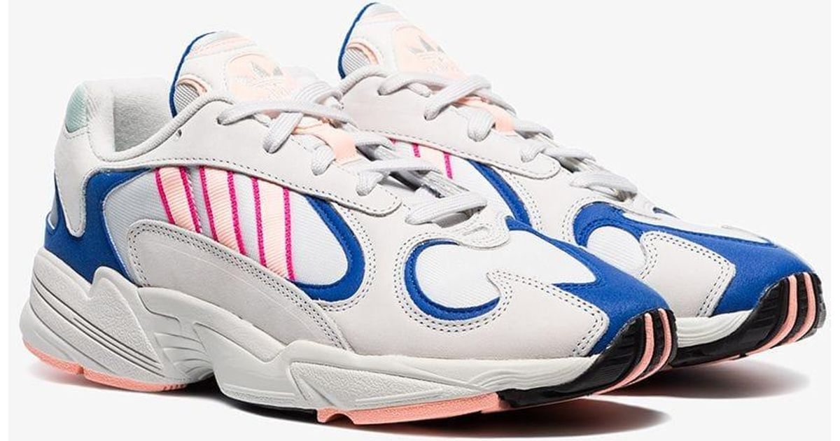 Adidas White Yung 1 Watermelon Leather Low Top Sneakers