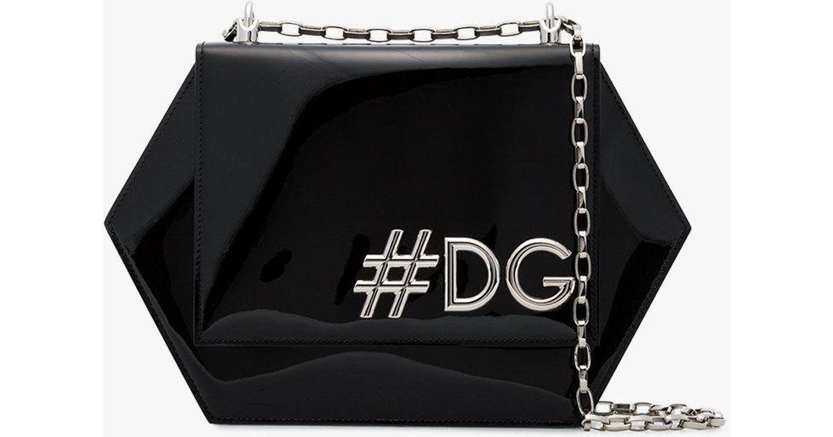 6f0bd9f942c1 Dolce & Gabbana Dg Girls Hexagonal Shoulder Bag in Black - Lyst