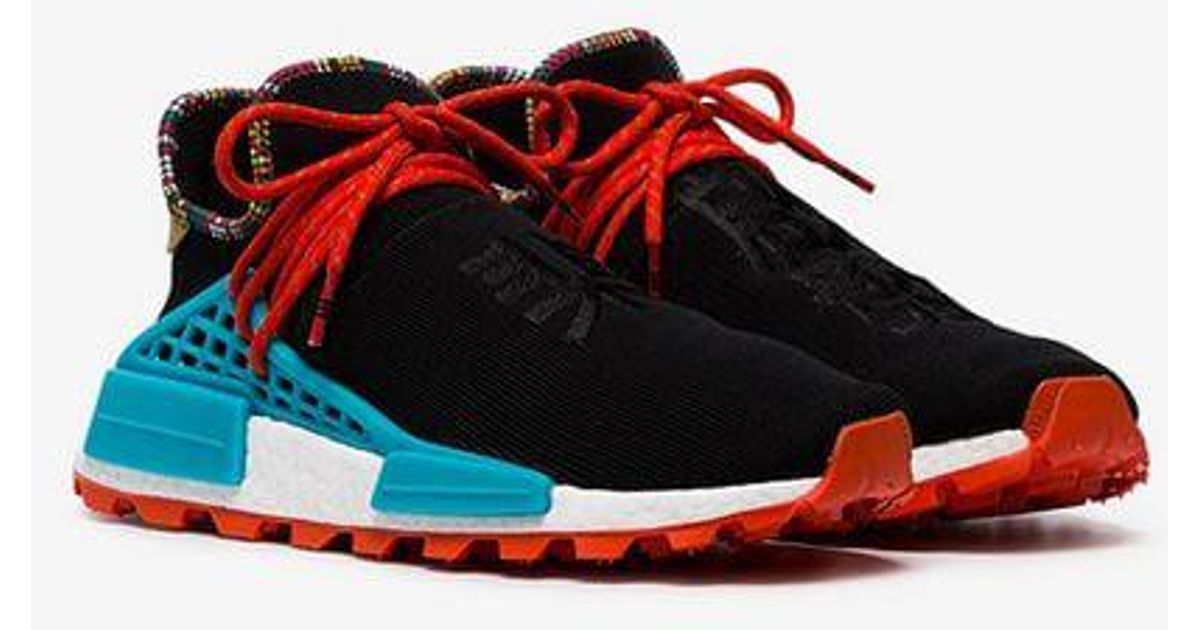 buy online 09312 f366a Adidas X Pharrell Williams Black Human Body Nmd Sneakers for men