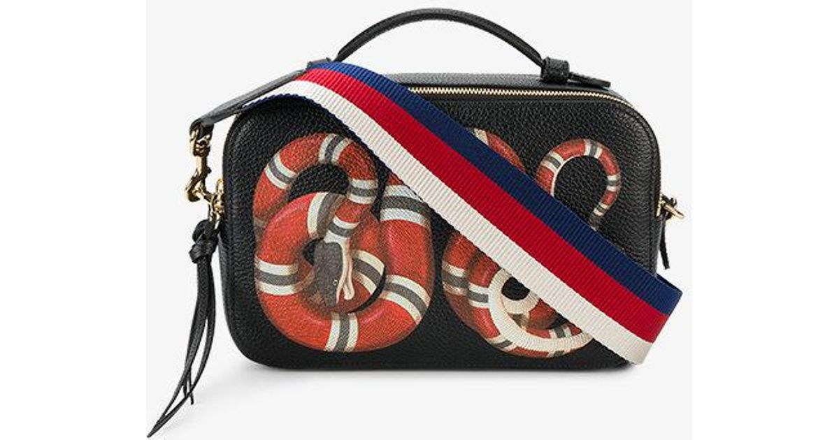 0dcefb7c7a6 Gucci Merveilles Snake Print Bag in Black - Lyst