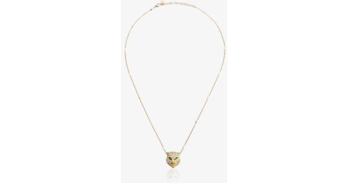 Gucci 18kt Gold Cat Le Marché des Merveilles necklace - Metallic vg8oxui1