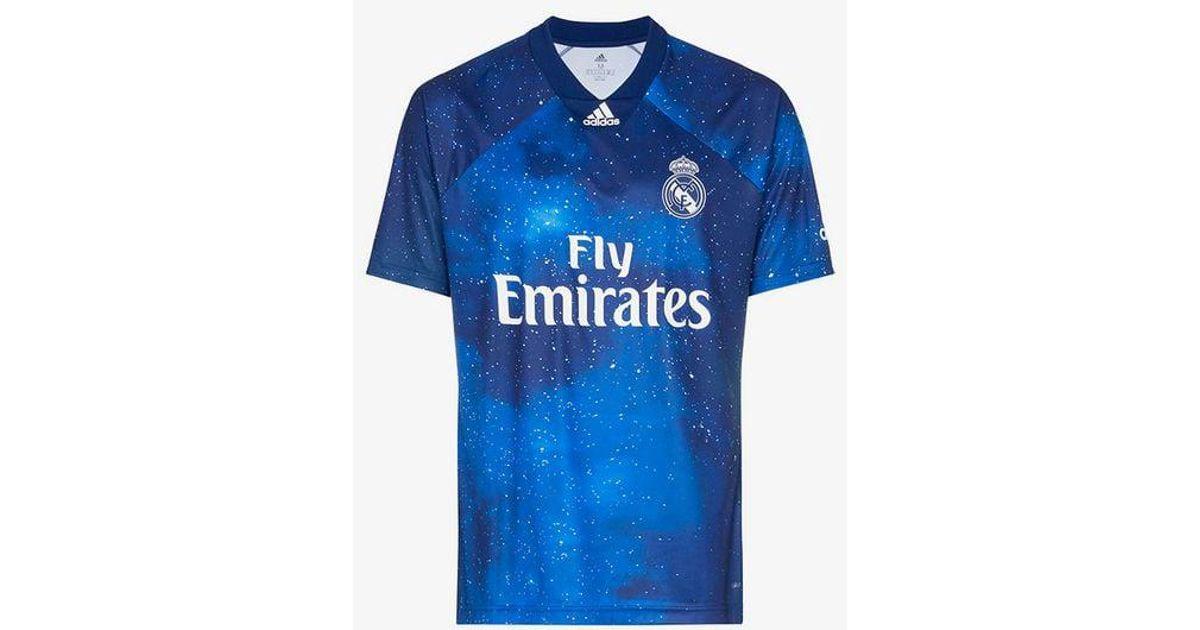 official photos ad614 e22e4 Adidas Blue Real Madrid Ea Sports Jersey for men
