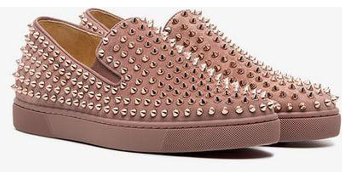 52ca71db695 Christian Louboutin Pink Roller Boat Stud Sneakers for men