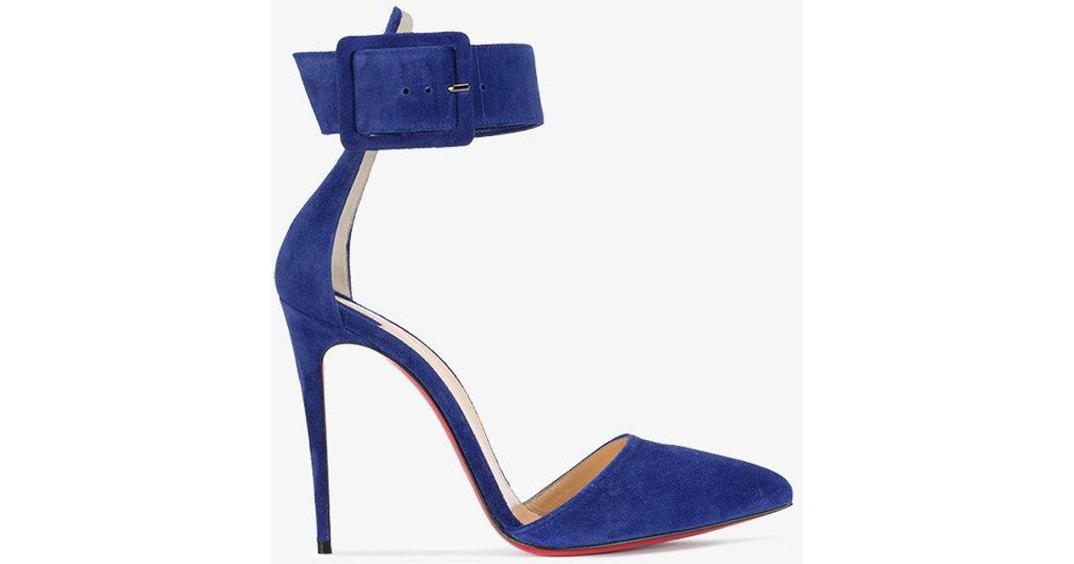 Cheap Price Free Shipping Harler 100 blue suede pump Christian Louboutin Cheap Sale How Much Deals K2sy0CIf