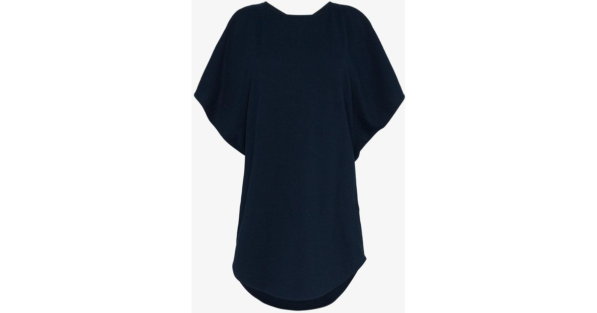 Buy Cheap Best Place Looking For Cheap Online navy cotton drop back top - Blue J.W.Anderson xDX6Sub