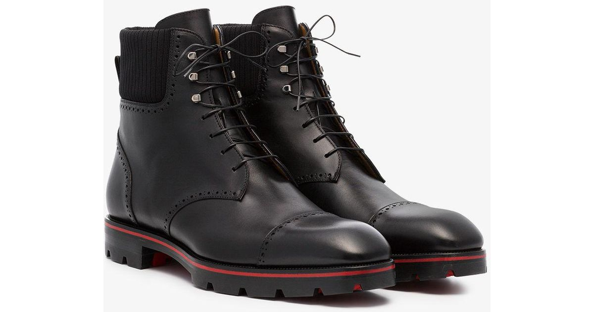 b78f0ade8a394 Lyst - Christian Louboutin Citycroc 30 Leather Boots in Black for Men