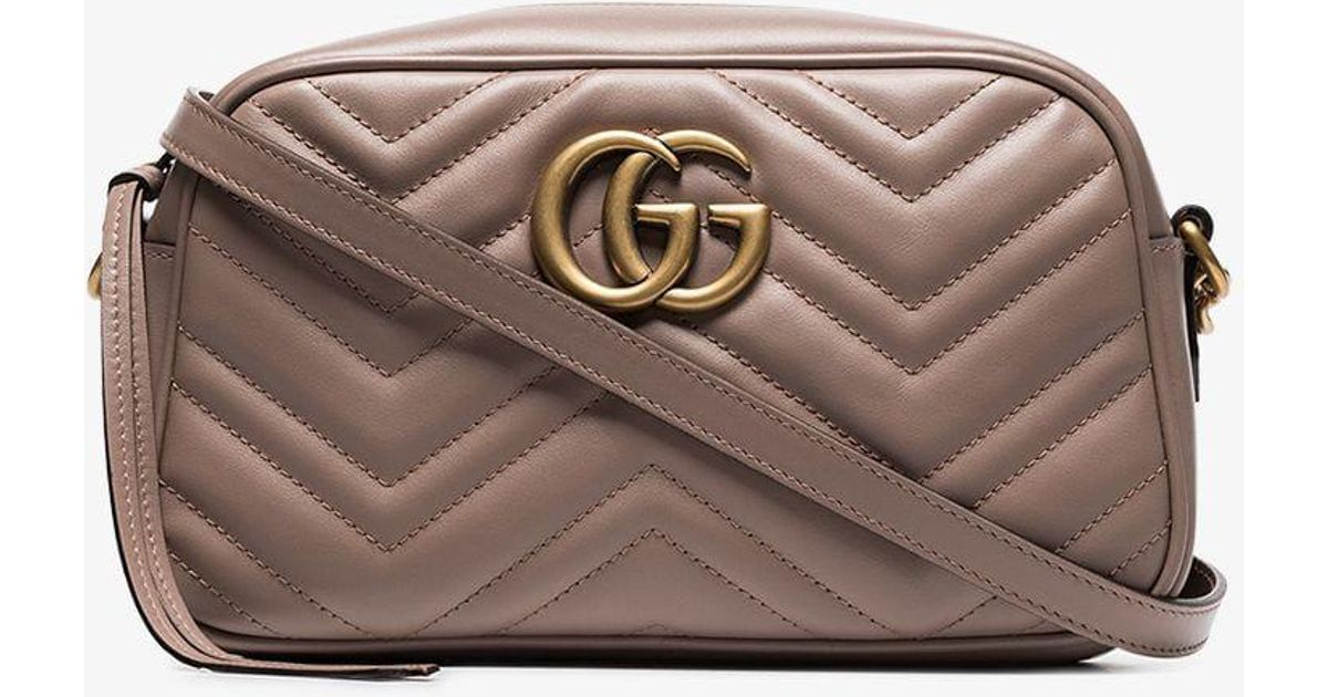 Gucci Nude GG Marmont Quilted Leather Shoulder Bag - Lyst