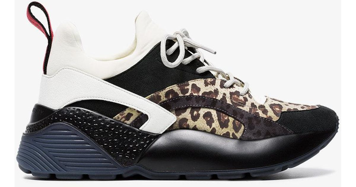Eclypse leopard-print sneakers - Multicolour Stella McCartney Qjwaoix