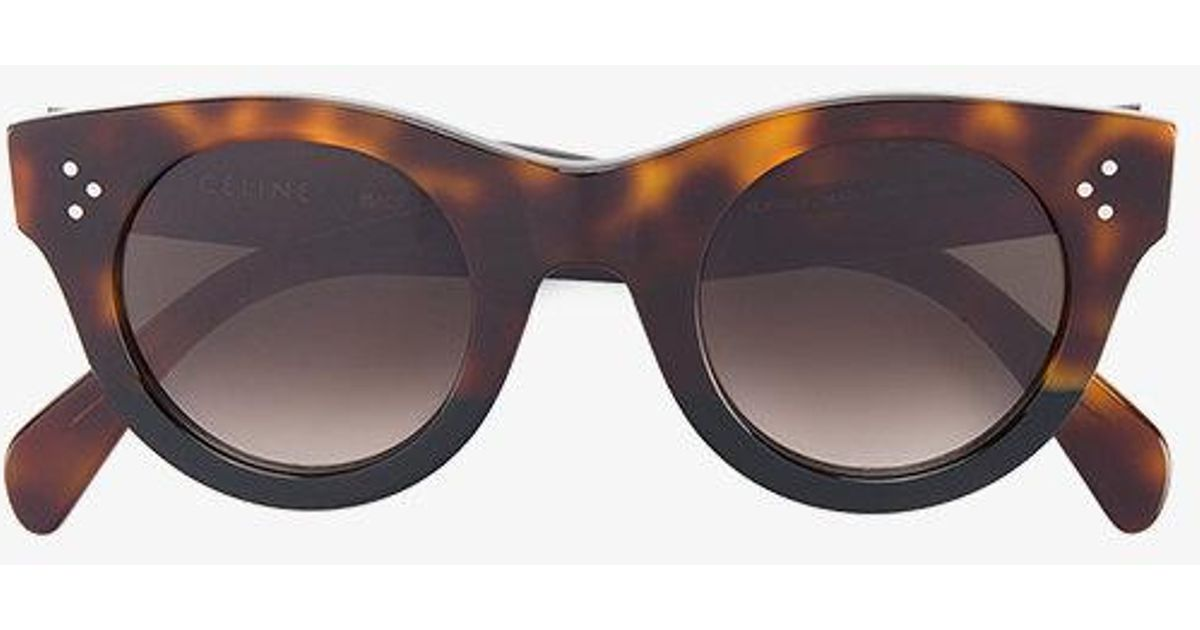 d895d006635 Céline Tortoiseshell Baby Audrey Sunglasses in Brown - Lyst