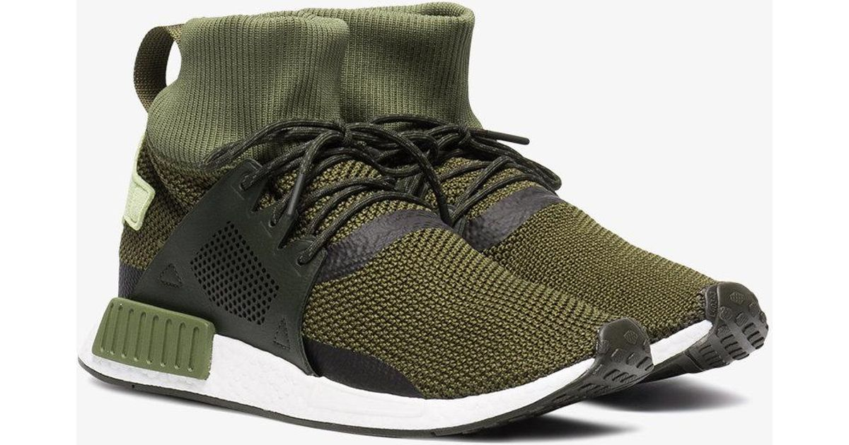 Adidas Green Nmd Xr1 Winter Sneakers for men