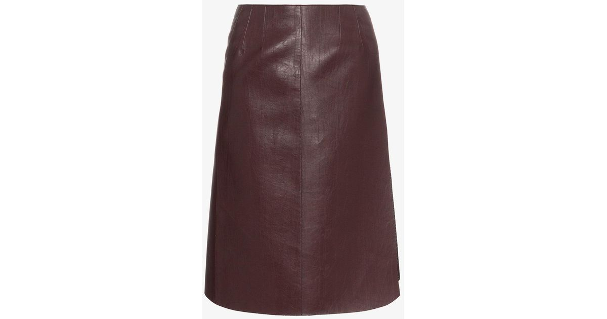high waisted faux leather wrap skirt - Pink & Purple We11done Clearance Countdown Package Free Shipping Clearance d4Aoyyuesy