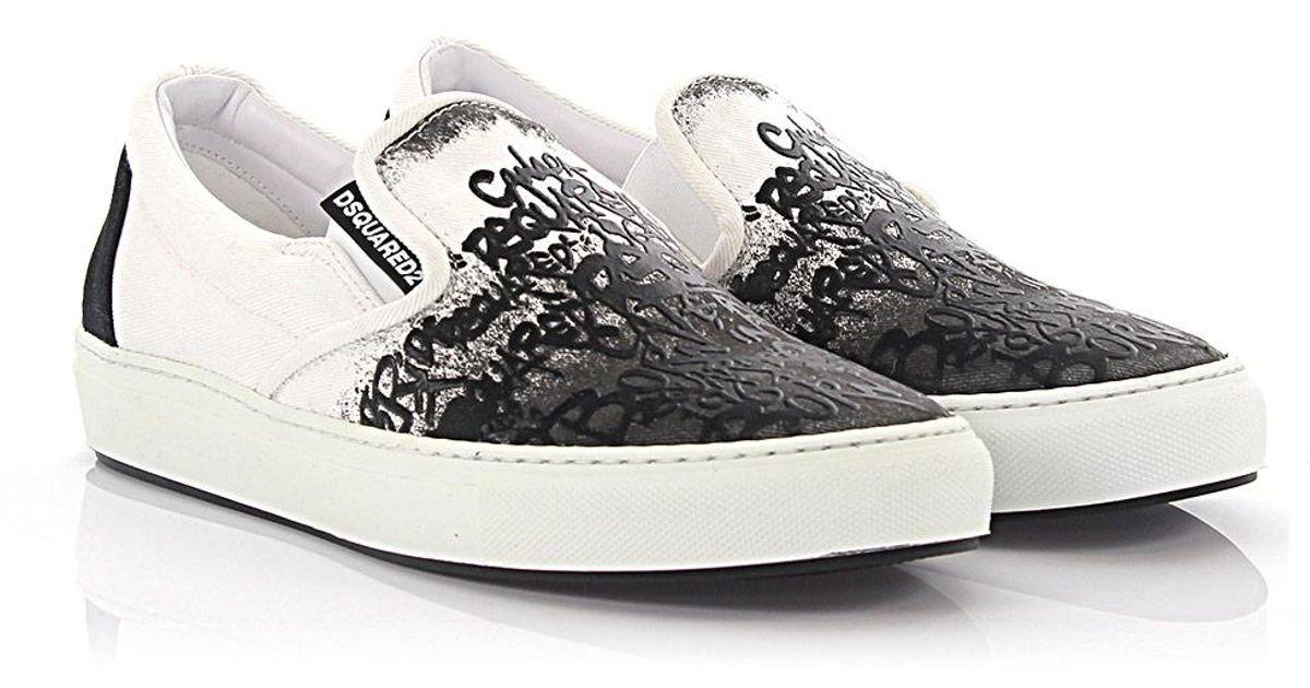 Dsquared2 Slip-on Sneaker Teddy Bear material black SDVEE5yZ