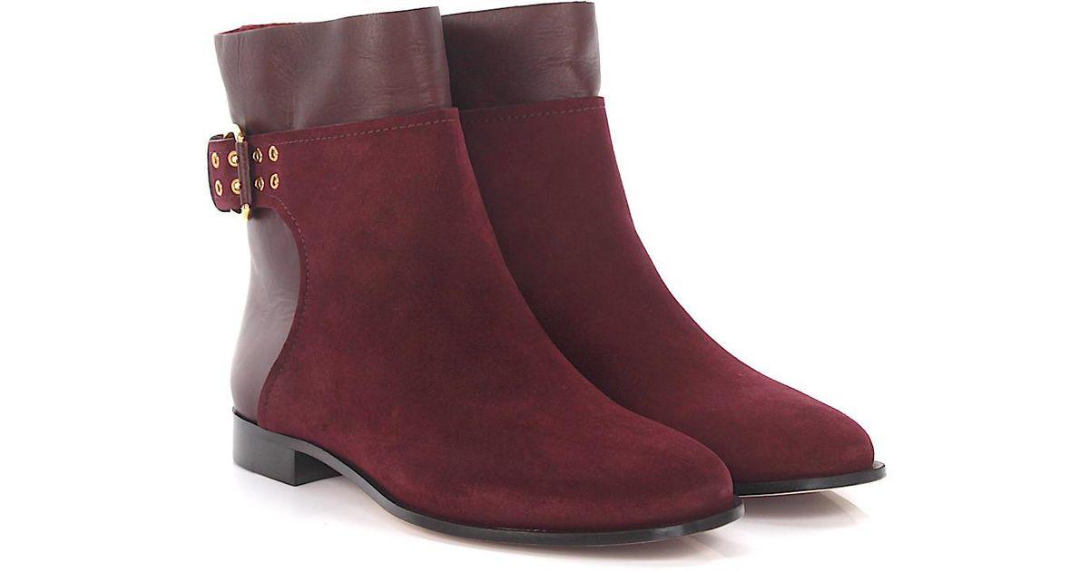 Jimmy choo Ankle boots MAJOR FLAT calfskin suede gmem5UIkw