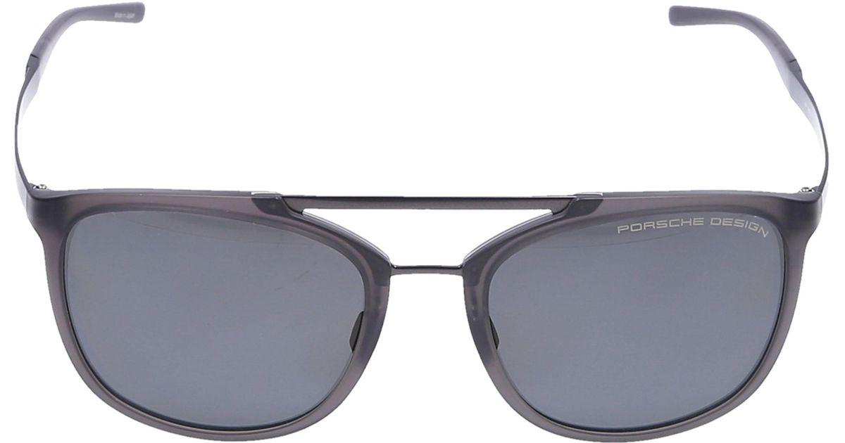 f463852204 Lyst - Porsche Design Men Sunglasses D-frame 8671 Acetate Titanium Grey in  Gray for Men