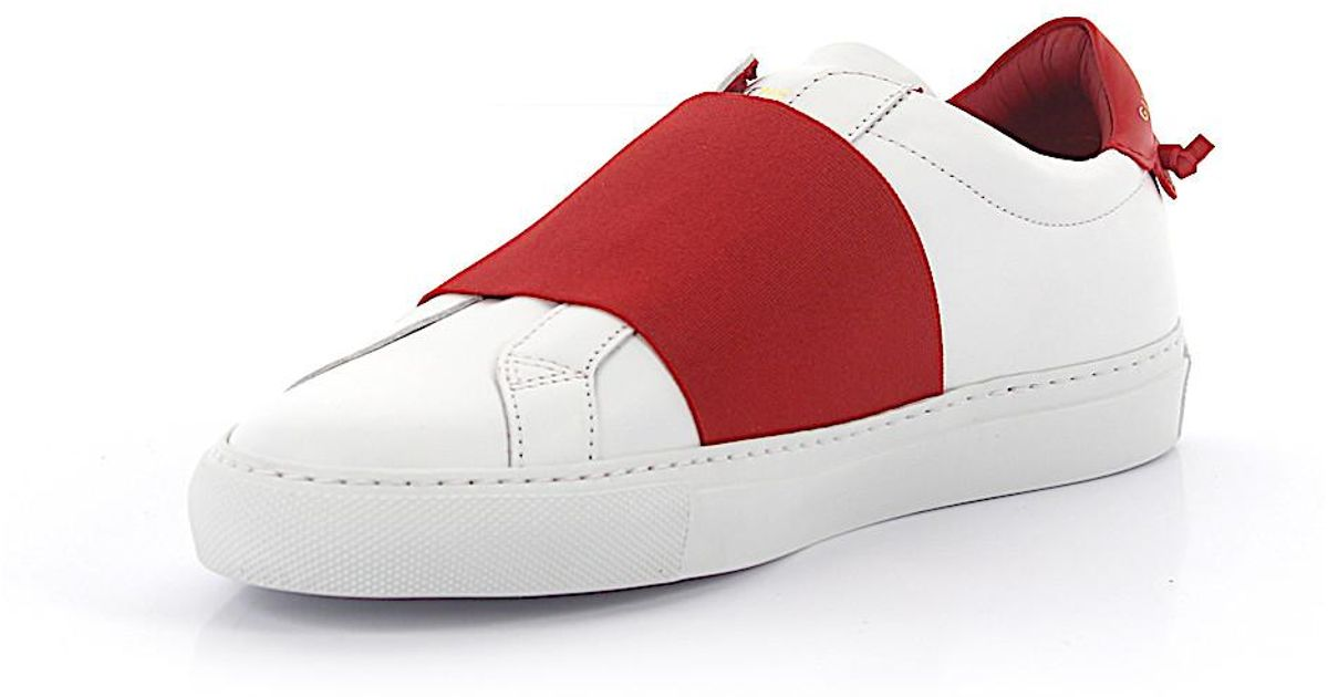 fb721f71231f9 Lyst - Givenchy Slip-on Sneaker Urban Street Look Elastic Red Leather White  in Red for Men