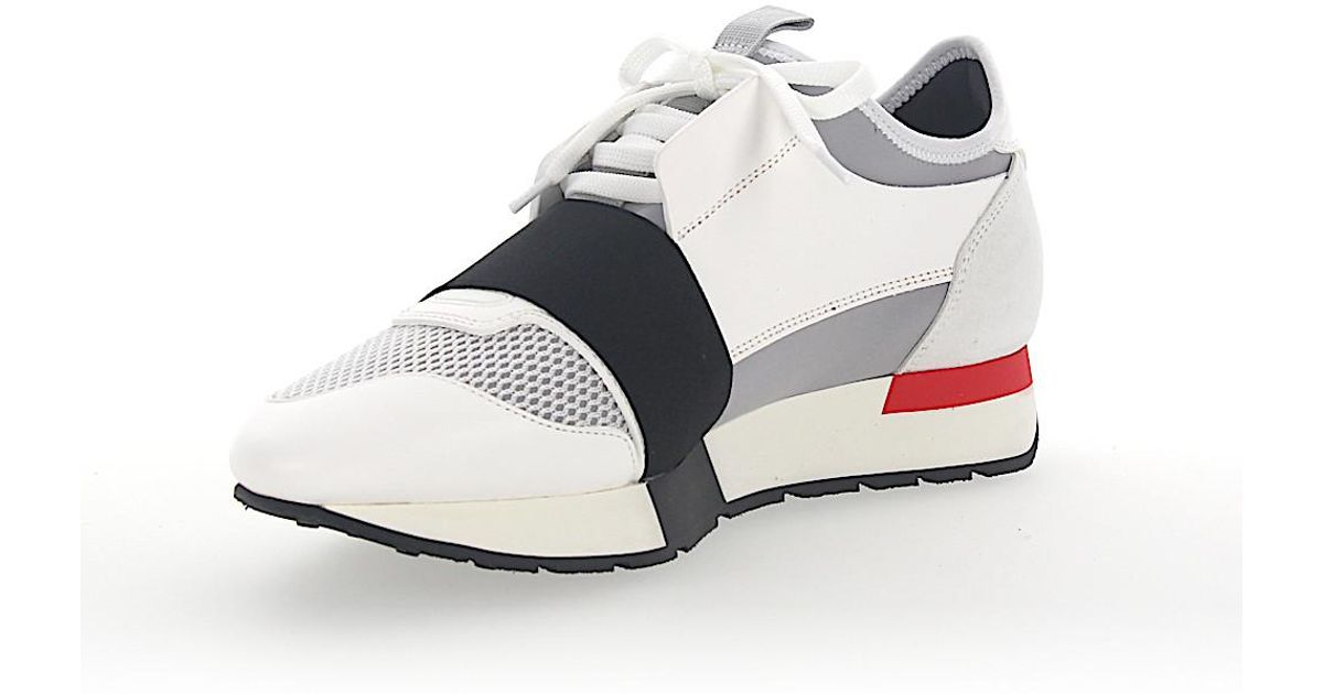 BalenciagaSneakers RACE RUNNER leather suede fabric mesh pF6Bxes