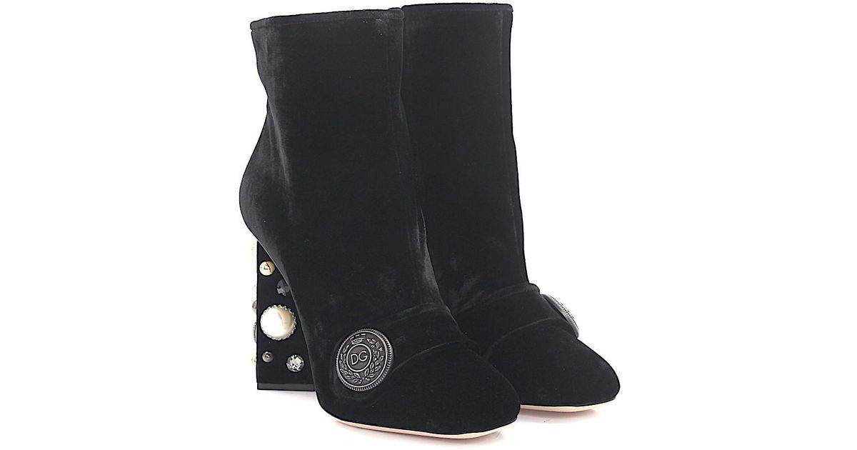 Dolce & Gabbana Boots Jackie velvet