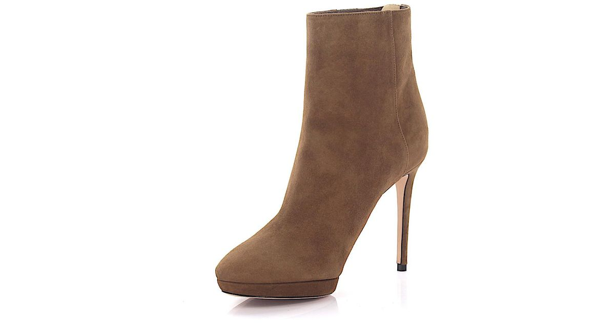 Jimmy choo Boots Harvey 100 plateau suede brown