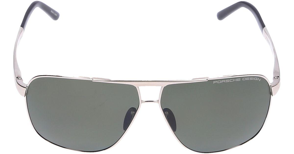 34f438084210 Lyst - Porsche Design Men Sunglasses Aviator 8665 Titanium Gold Black in  Metallic for Men