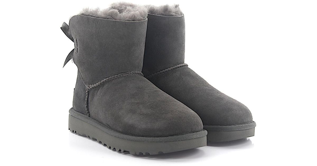 UGG Boots BAILEY BOW 2 suede lamb fur FudlXYOT